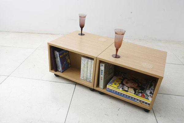 Компактный журнальный столик для хранения DVD, игрушек, журналов