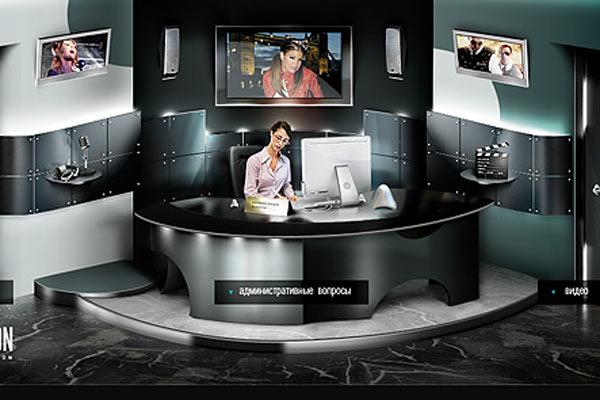 Дизайн сайта фотостудии London Studio от OrangeLable.ru.