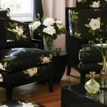 Цветы в решении дизайна гостиной.