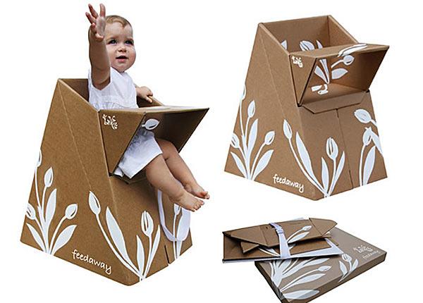 Детские стульчики из переработанного картона