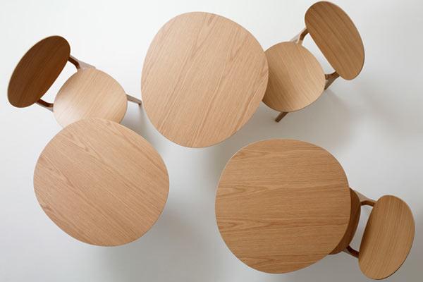 Шведская работа с формой и цветом мебели