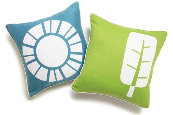 набор из двух подушек Boodalee — Teal World Pillow