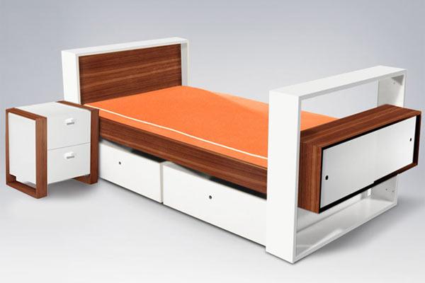 Кровать и тумбочка ducduc — Austin Youth Bed and Nightstand