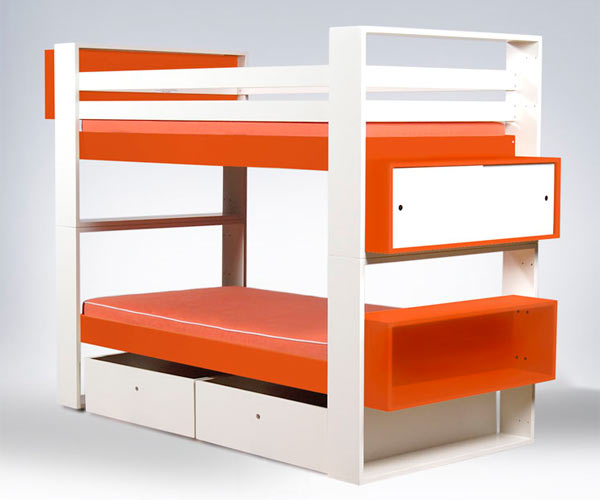 Двухярусная кровать ducduc — austin Painted Bunk Bed