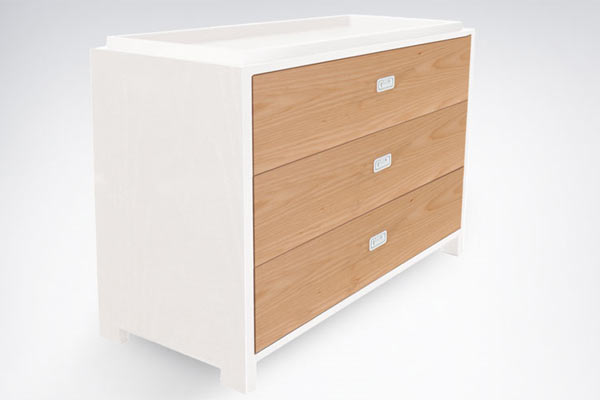 Пеленальный стол-комод ducduc — campaign 3 Drawer Changing Table