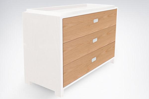 Пеленальный стол-комод ducduc — campaign 3 Drawer Changing Table