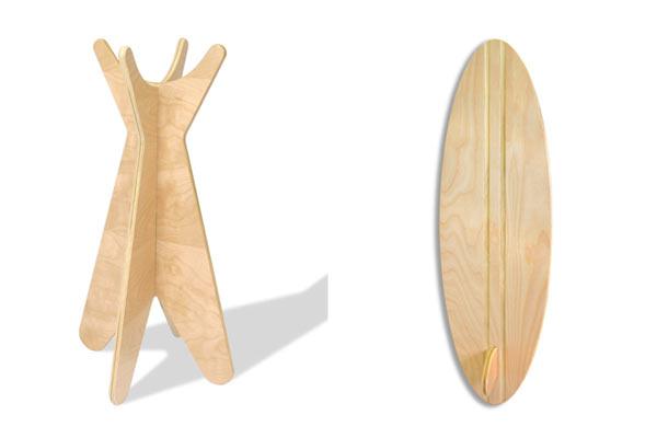 Доска для серфинга Ecotots — Surfboard Growth Chart и вешалка Ecotots — Coat Rack
