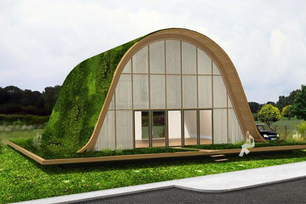 Дом в зеленой волне — архитектор Patrick Nadeau