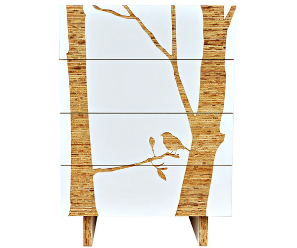 Шкаф бельевой Iannone Design — Trees Tall Graphic Dresser
