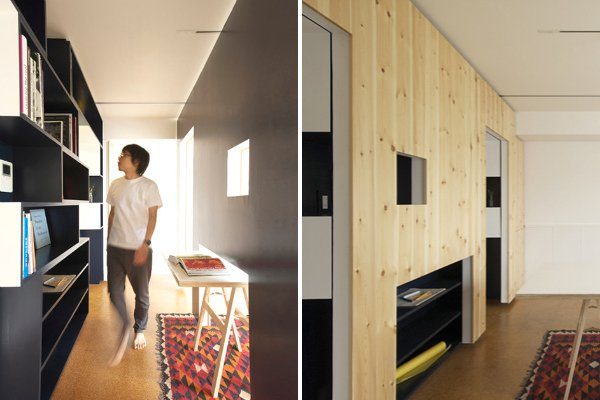 Модульное мобильное зонирование квартиры под домашний офис — Switch