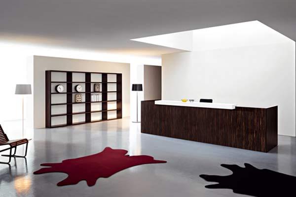 Шкуры убитых медведей — Babini Office reception Riga.