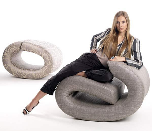 Мебель, похожая на клипсы — Eklipse Lounge Chair.