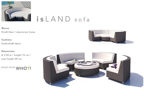 Кровать IsLAND Sofa.