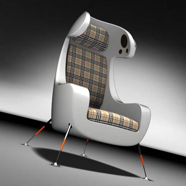 Мультимедийное концептуальное кресло от Martin Emila.