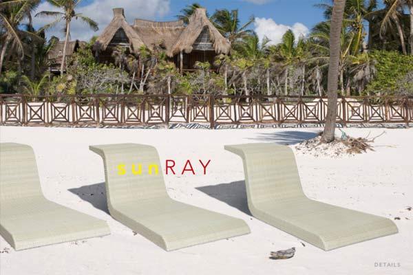 Пляжные шезлонги SUN RAY.