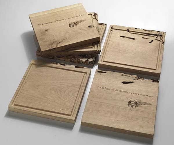 Деревянные коврики Slice of Briccole дизайнера Philippe Starck.