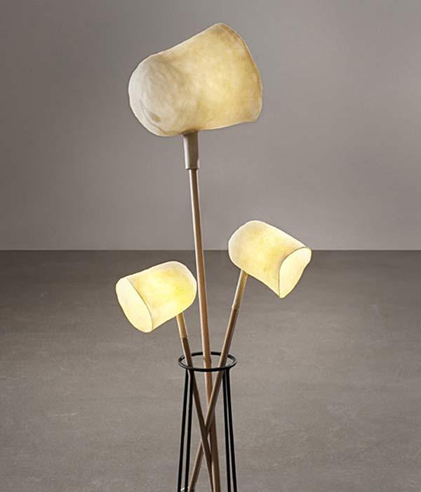Светильники из материала Zelfo дизайнера Elise Gabriel.