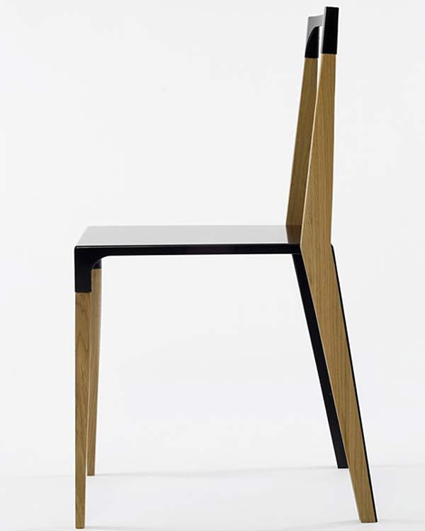 Мебель из дуба и металла — Tabbed Chair.