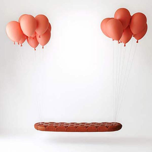 Скамейка на воздушных шарах Balloon Bench.