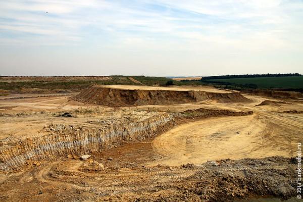 Карьер в Орловской области: здесь добывают глину для производства керамической плитки.