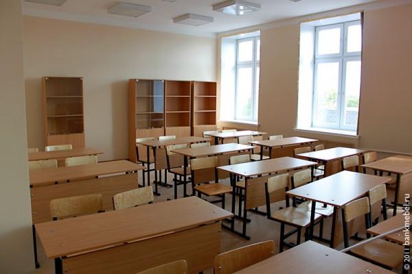 Школьная мебель в классе.