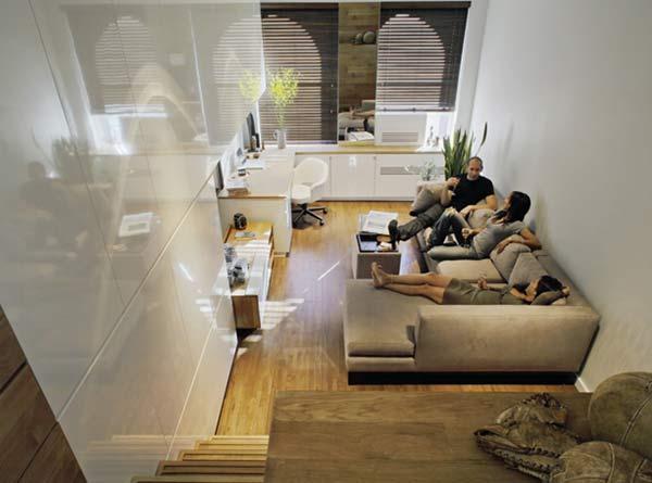 Пятерка самых эффективных компактных интерьеров в Нью-Йорке.
