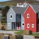 Социальный проект бюджетного коттеджного поселка Grödians в Шотландии.
