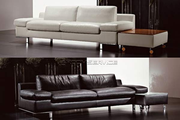 Натуральная кожа в отделке итальянских диванов.