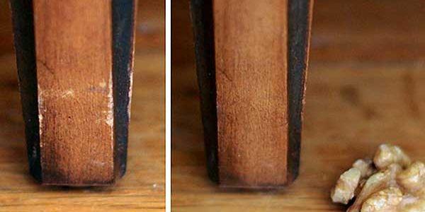 Как справиться с царапиной на мебели?