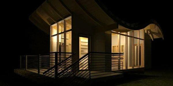 Новый проект эко-коттеджей Curvy Eco Home