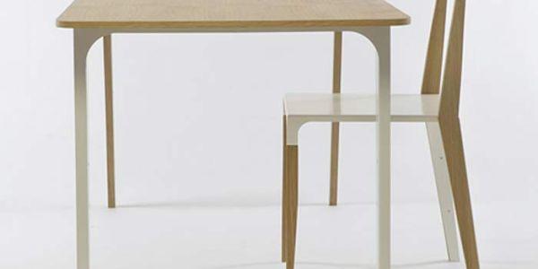 Модерновая мебель из дуба и металла — Tabbed Chair