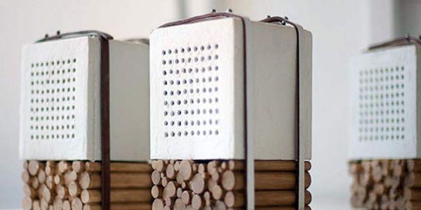 Это не дрова, а аудио колонки Natural Speakers