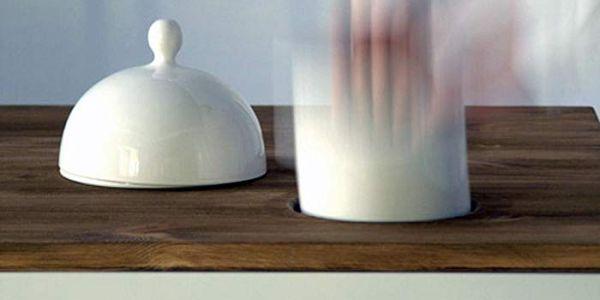 Обеденный стол с керамическими плагинами Plug-In