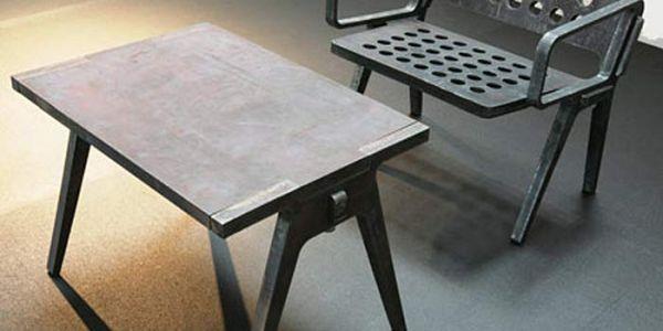 Детский стульчик из стали и прочая вечная мебель Flame