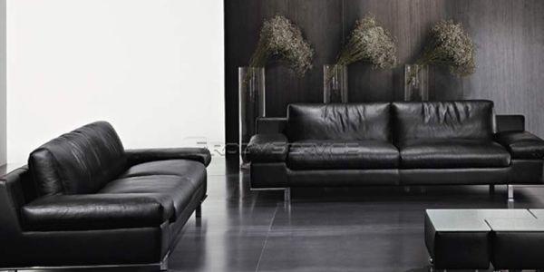 Натуральная кожа в отделке итальянских диванов