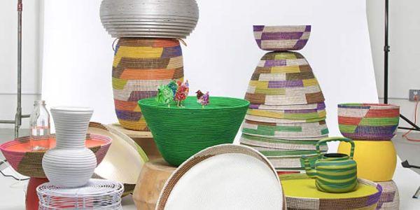 Светильники африканского плетения в США