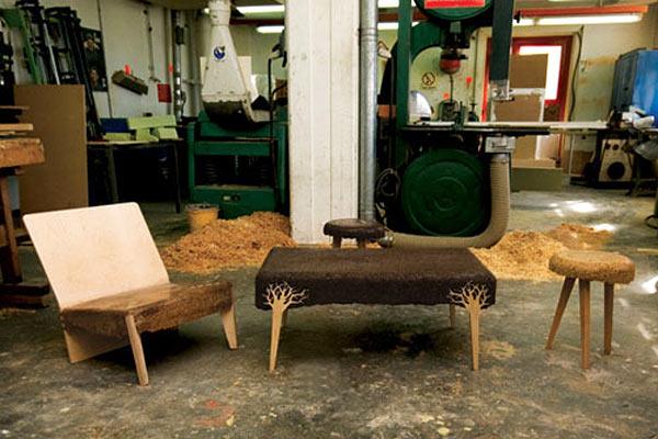 Мебель из кофейной выжимки