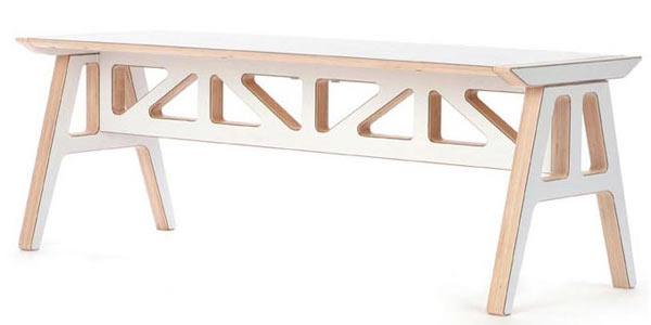 Скамейка Context Furniture — Truss A-Frame Bench