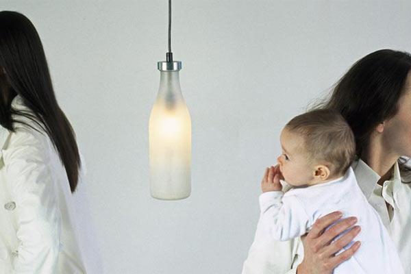 Лампа из молочной бутылки Droog — Single Milk Bottle Lamp
