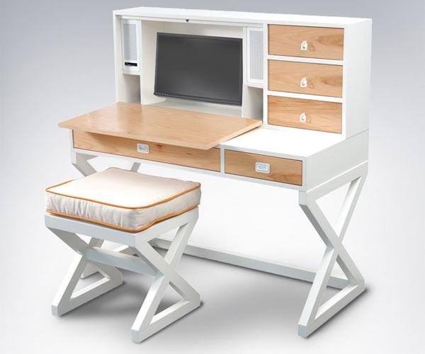 Компьютерный стол ducduc — campaign Desk/></p> <p>Шкаф со стеллажами <b>ducduc — campaign Armoire With Shelves: $2,425.00 — $2,775.00</b></p> <p><img src=