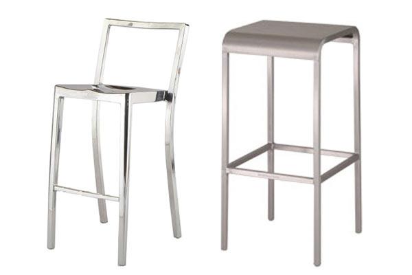 Барные стулья Emeco — 20-06 Stool и Emeco — Icon Bar Stool