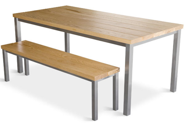 Кофейный столик Gus* — Stanley Dining Table & Bench