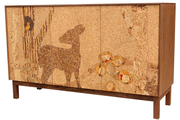 Буфет Iannone Design — Cork Forest Mosaic Sideboard