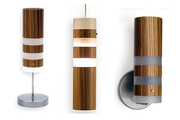 Три лампы из серии Legna