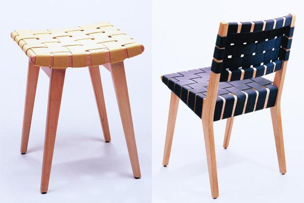Табурет knoll kids® — Child's Risom Stool и стул knoll kids® — Child's Risom Chair