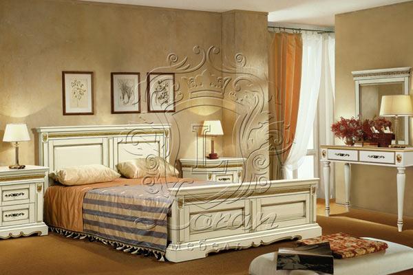 Спальня Милана беленый дуб