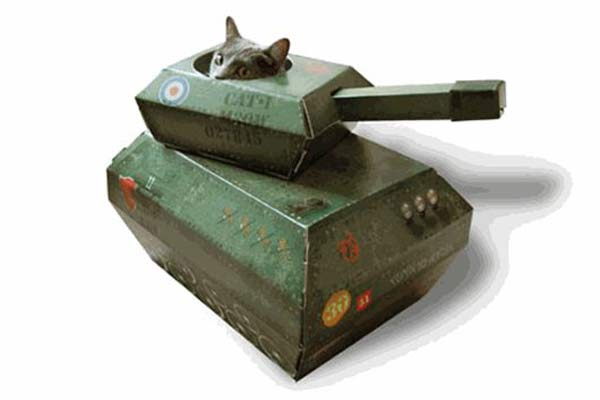 Детская мебель и кошачьи домики из картона