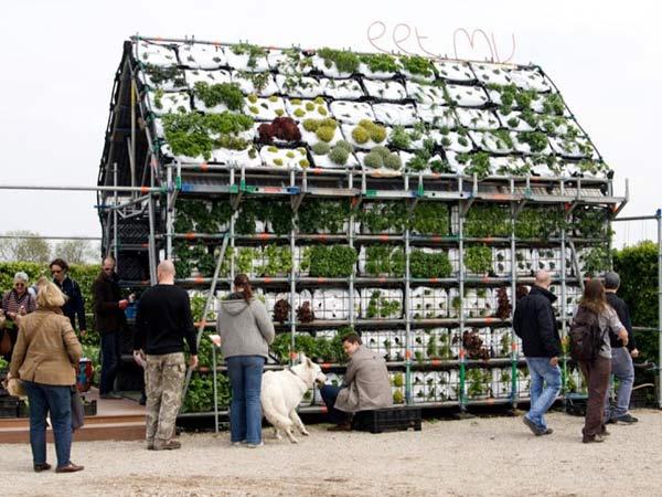 Съедобная концепция садовых домиков в Роттердаме — Eathouse.