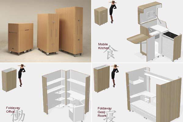 Мобильная мебель Kenchikukagu.