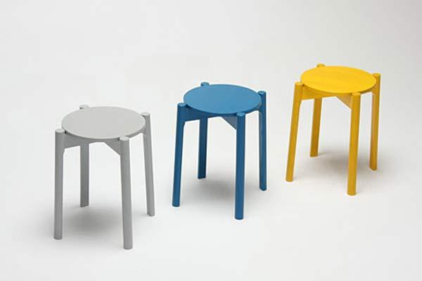 Мебель из японского дуба — Castor Stackable.